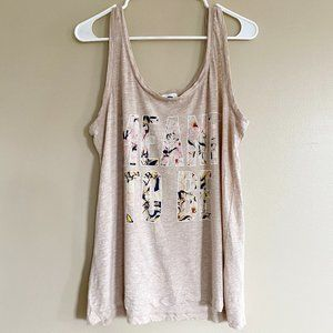 Old Navy graphic print tank top sz XL